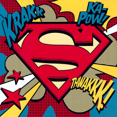 Superman Logo Pop Art