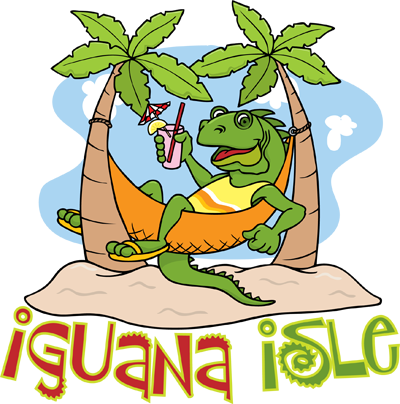 Cartoon Iguana Logo
