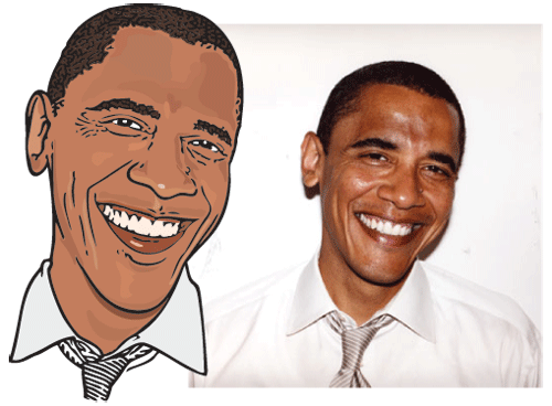 Funny President Obama Cartoon And Caricature