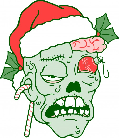 Cartoon Christmas Zombie